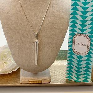 Stella & Dot Rebel Pendant Necklace Shiny Silver